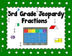 Here is a powerpoint game specifically for 3rd grade. I made this for my after school students who are struggling. They enjoy it very much and your students will too.   It is for fractions and covers just about everything we cover at our school in math(envision math) for 3rd grade.