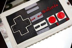 Our nerdy side makes an appearance. The Groom's Nintendo cake.