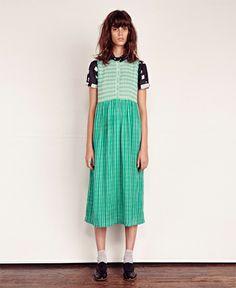ace&jig/エース・アンド・ジグ - cliff ロング ノースリーブ ワンピース long sleeveless dress (tile / holland stripe) - SIAMESE (サイアミーズ) オンラインセレクトショップ