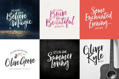 Hello Beautiful Font Duo + Swashes by Nicky Laatz on Creative Market