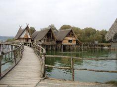 Lake Dwelling Settlement Museum Unteruhldingen at Lake Constance