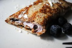 Gluten-Free Blueberry Crepes #recipe