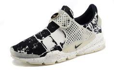 sports shoes 5e076 08f7e Girl WMNS Nike Sock Dart lightning Print Oreo Black White Cool Grey Dark  Grey Sock Dart