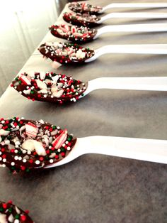 Peppermint Chocolate Spoons Completed