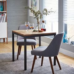 """Box Frame Square Dining Table – Wood #westelm $399 30"""" square"""