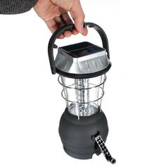 Outdoor 36 LEDS Solar Light Lantern Rechargeable Tent Lamp Hand Crank Dynamo For Camping Hiking