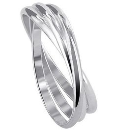 Sterling Silver Triple Band Thumbring Thumb Ring Size 5, 6, 7, 8, 9, 10