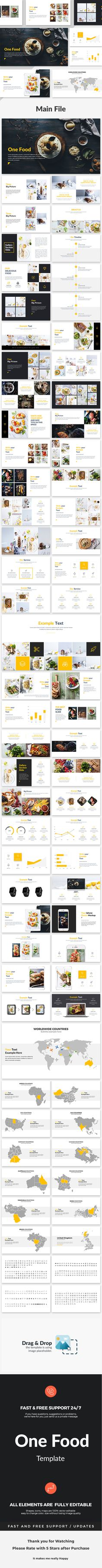 One Food  Creative Google Slide Template — Google Slides PPTX #industrial #info graphics • Download ➝ https://graphicriver.net/item/one-food-creative-google-slide-template/18928069?ref=pxcr