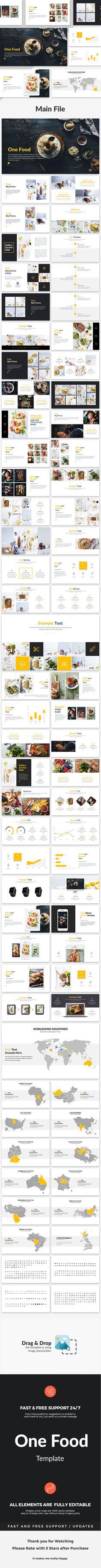 One Food  Creative Google Slide Template — Google Slides PPTX #industrial #info graphics • Download ➝ https://graphicriver.net/item/one-food-creative-google-slide-template/18928069?ref=pxcr