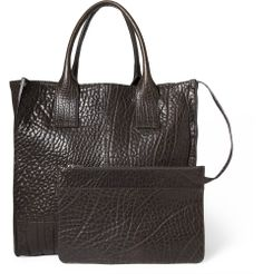 Dolce & Gabbana - Textured-Leather Tote Bag With Detachable Pouch