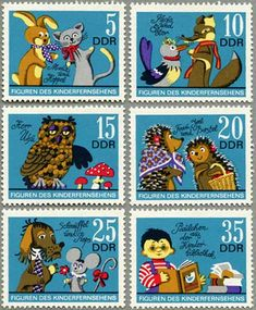 ◇DDR  1972 animal character stamps