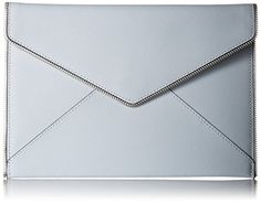 Women's Clutch Handbags - Rebecca Minkoff Leo Envelope Clutch Bleached Blue One Size >>> Details can be found by clicking on the image. Rebecca Minkoff Handbags, Amazon Website, Floral Clutches, Amazon Associates, Envelope Clutch, Leo, Clutch Handbags, Chain, Image Link