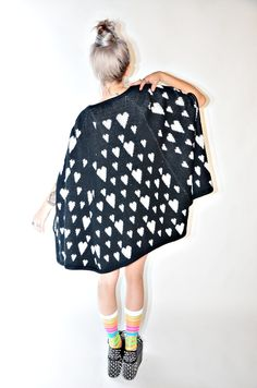 {1960s heart cape} cover yourself with hearts! so cute.