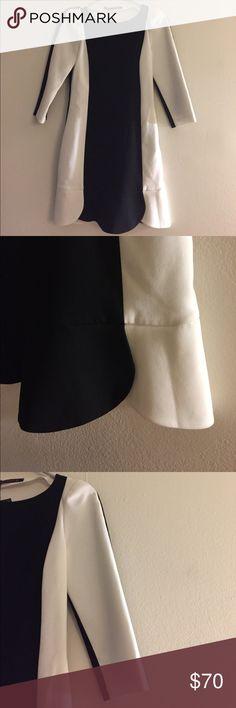 ZARA Black and White Dress - S New with tags. 🚫NO TRADES. Zara Dresses Long Sleeve