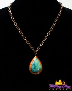 8-9. Spiderweb Natural Tibet Turquoise Teardrop Pendant Necklace Our new runway jewelry on ETSY: https://www.etsy.com/shop/TheKingsThings