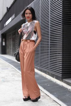 Singapore Streetstyle: Flat shoes and loose fabrics | Flat Shoes ...