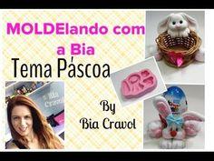 MOLDElando com a Bia- Tema Páscoa 2 - Coelhos - Bia Cravol - YouTube