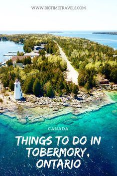 Tobermory offers visitors striking scenery, a variety of water activities and a place to relax. There are so many amazing things to do in Tobermory. Time Travel, Places To Travel, Travel Destinations, Holiday Destinations, Quebec, Montreal, Vancouver, Voyage Canada, Manitoulin Island
