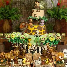 Lion king birthday party ideas photo 2 of Safari Theme Birthday, Jungle Theme Parties, Baby Boy 1st Birthday Party, Safari Party, Safari Baby Shower Cake, Lion King Birthday, Baby Shower Decorations, Foto Instagram, Party Ideas