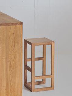 Taburete alto de madera maciza STEP by vitamin design diseño GG designart