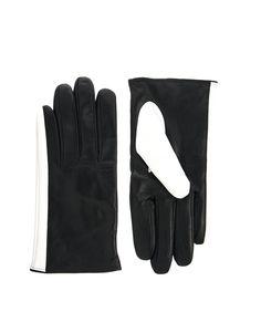 ASOS   ASOS Leather Colour Block Gloves at ASOS