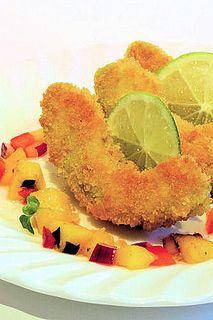 Crumbed avocado with mango salsa IMG_6178 ch R by nicisme, via Flickr