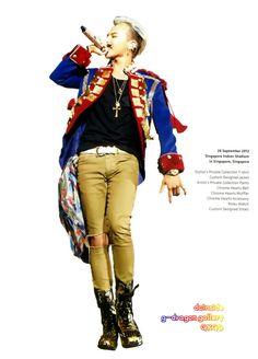 G-Dragon (Kwon Ji-Yong ) ♡ #BIGBANG #GD - Alive Tour Fashion Details