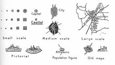 Map symbols for cities by Erwin Raisz