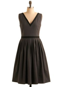 Simple, elegant dress from Modcloth. $114.99 #dress #grey