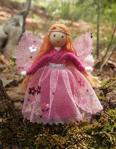 miniature pink flower fairy doll Wildflower Innocence made in America – Wildflower Innocence Toys