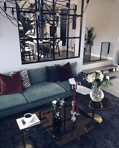 62 the forgotten gray living room idea – jack Apartment Interior, Living Room Interior, Living Room Grey, Home And Living, Room Inspiration, Interior Inspiration, Living Room Designs, Living Spaces, Interior Architecture