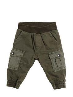 diesel kids - bambini-neonato - pantaloni - pantaloni cargo in gabardina di…
