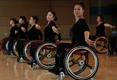 Physically disabled dancers practice at a disabled persons activity center in Beijing, on February 28, 2012. Two times a week, a group of 42 dancers including 24 women with physical disabilities, from the commonwealth organization of the Beijing Disabled Dance Team practice modern dance using wheelchairs. (Reuters/Jason Lee)