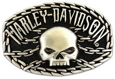 Harley-Davidson Men's Skull Chain Buckle