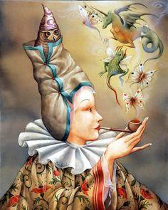 La Fumeuse (41x33cm) - Année 2008
