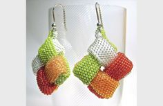 Aenigma earrings | 2014 Workshops | Perlen Poesie