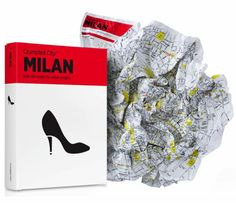 M<3 The Crumpled City Map Milan, Italy