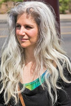 Beautiful long gray hair - sometimes, I'm so tempted to let mine grow out