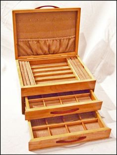 Two Drawer Mission Style Jewelry Box