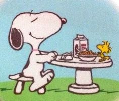 Tea time with snoopy