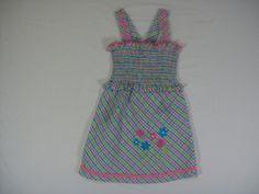PATSY AIKEN TODDLER GIRLS SIZE 2 MULTI-COLOR SUN DRESS SUMMER SEERSUCKER COTTON #PATSYAIKEN #Casual