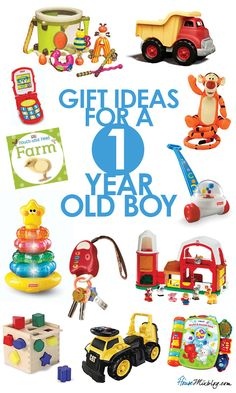 present ideas for one year old boy
