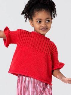 Kostenlose Anleitung: Kinderpullover mit Rüschen - Initiative Handarbeit