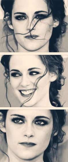 Kristen Stewart. She is actually so beautiful. Definitely should have gone down the modelling route and not acting, her modelling shots are gorgeous