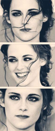 Kristen Stewart. She is actually beautiful. I hate Bella not Kristen