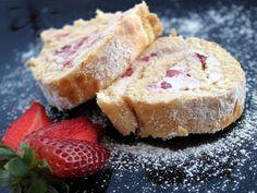Receta Postre : Brazo de gitano con fresas y mascarpone por Ana maría