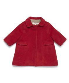 Kowhai Baby Coat, Tomato, 3m