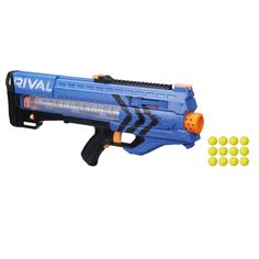 Experience intense head-to-head competition with the ultimate precision and power of the Nerf Rival Zeus blaster! Go into battle as the Blue Team. Experience the intensity of Nerf Rival with the Zeus blaster! Nerf Mod, Megalodon, Arma Nerf, Newest Nerf Guns, Ranger, Red Team, Books For Boys, Shopping, Darts