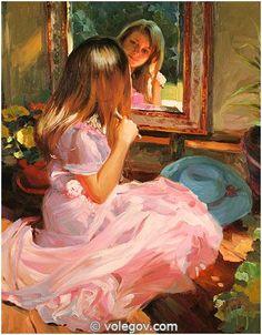 Gallery of artist Vladimir Volegov, portraits of very beautiful women.
