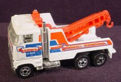 "Rig Wrecker Tow Truck ""Steve's 24 Hour Towing"" - Hot Wheels (1981) (© 1981 Mattel, Inc.) (Malaysia) (Malaysia base) #C8 #igotit"
